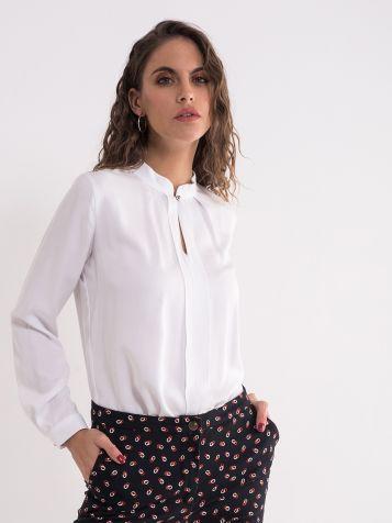 Bela poslovna bluza