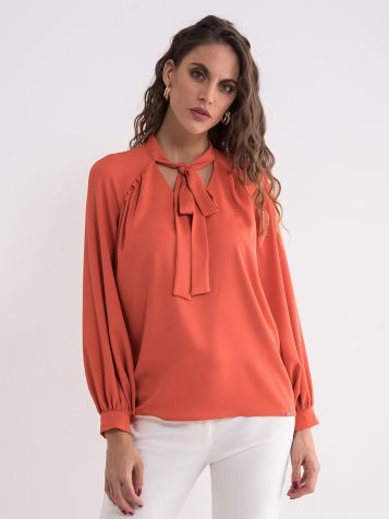 Narandžasta elegantna bluza