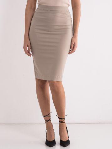 Jednobojna poslovna suknja