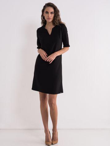 Jednobojna poslovna haljina