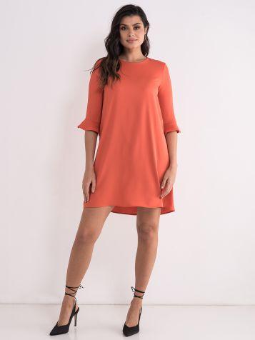 Elegantna narandžasta haljina