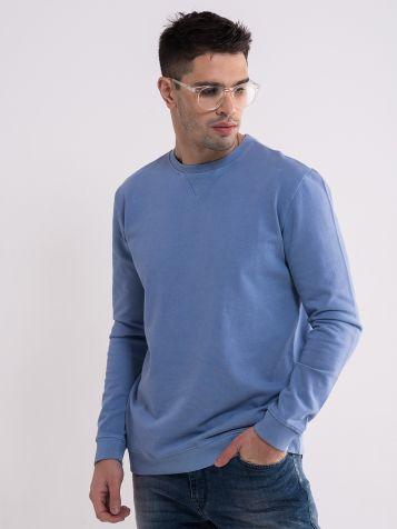 Muški pastelno plavi duks