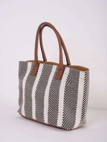 Prugasta ženska torba