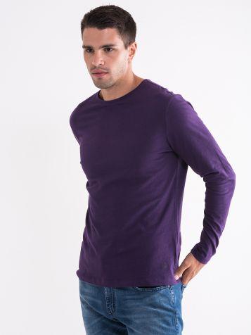 Ljubičasta muška basic majica