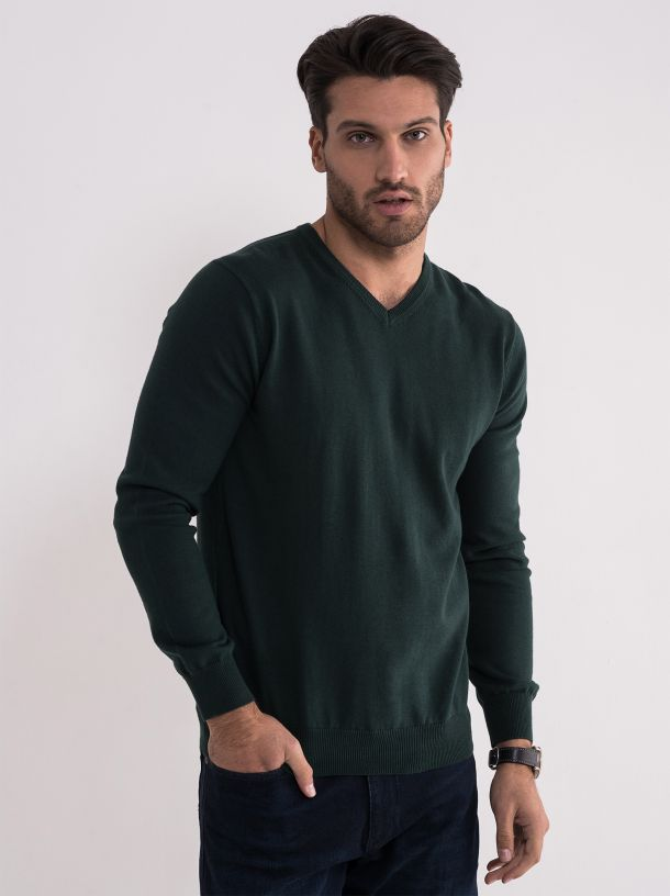 Basic muški džemper V izrez