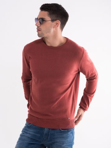 Basic muški džemper okruglog izreza