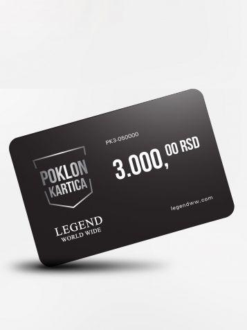 Poklon kartica 3000 dinara