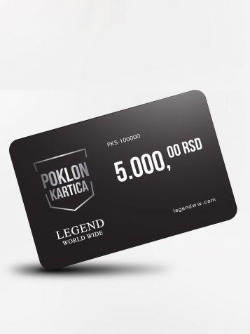 Poklon kartica 5000 dinara